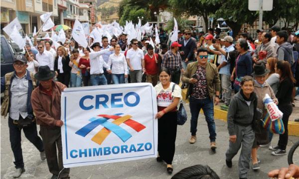 CREO Chimborazo continúa sus recorridos cantonales apoyando el trabajo político desde Alausí