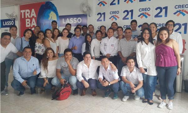 La Directiva de Jóvenes CREO en Guayas cumple con una nueva jornada de capacitación política