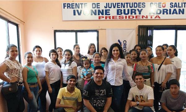 CREO posesiona a su nueva Directiva Parroquial del Frente de Jóvenes del Movimiento en Salitre