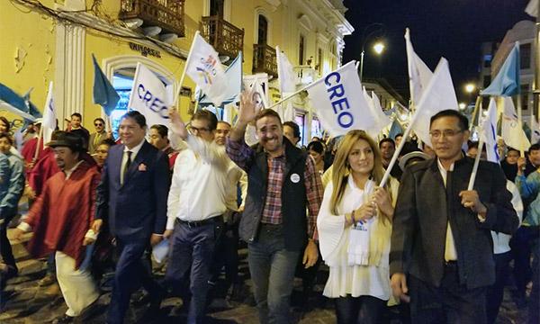 CREO continúa su trabajo de fortalecimiento político desde las calles de Riobamba