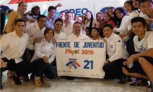 El Frente de Jóvenes CREO en General Villamil fortalece el trabajo político cantonal en Guayas