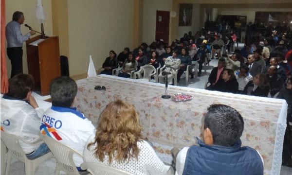 CREO acelera desde la Parroquia el Calpi el lanzamiento de sus candidatos para las Parroquias de Riobamba