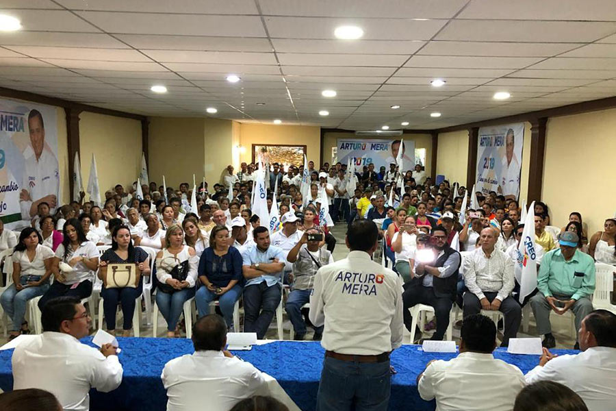 CREO proclama candidatura en Portoviejo y fortalece su trabajo territorial