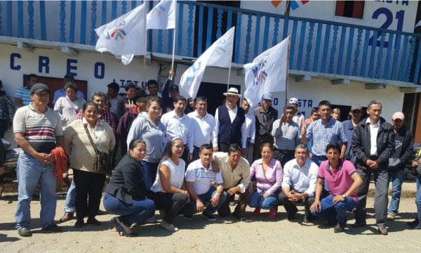 En la Parroquia Régulo de Mora CREO inaugura su central y posesiona su nueva Directiva territorial