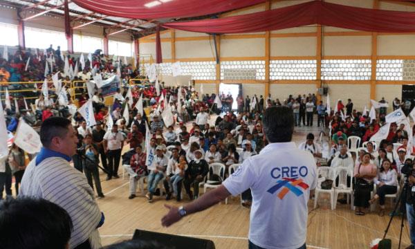 CREO proclama candidato a la alcaldía de Colta en Chimborazo