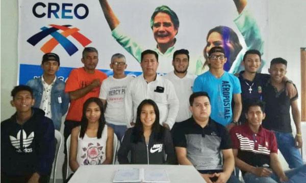 CREO felicita a su nueva directiva del Frente de Jóvenes de El Guabo quienes se unen al fortalecimiento en El Oro