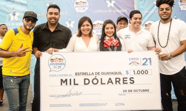 Jóvenes CREO fortalecen  su trabajo y eligen a la Estrella de Guayaquil