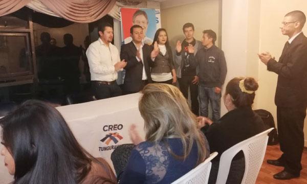 CREO Tungurahua posesiona a su nueva directiva cantonal del Frente de Jóvenes de Ambato