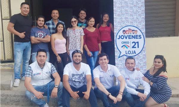 CREO Loja posesiona a su nueva directiva del Frente de Jóvenes del cantón Calvas