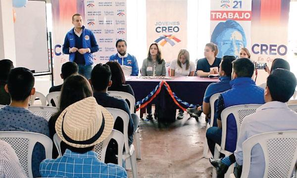 El Frente de Jóvenes CREO en Pichincha consolida su trabajo político y fortalece su estructura