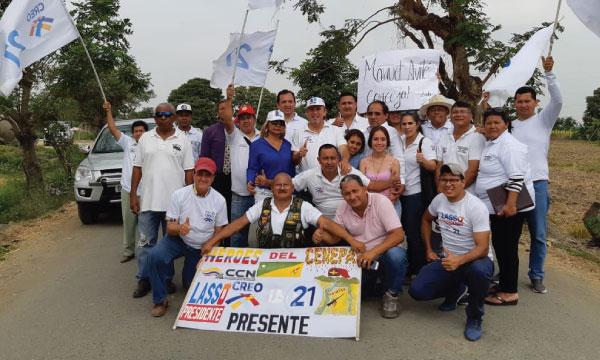 En Juan Bautista Aguirre continúa el fortalecimiento parroquial de la directiva de CREO Guayas