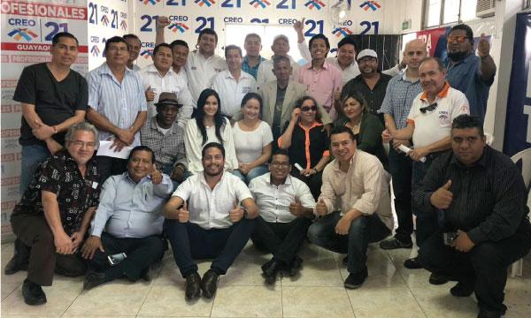 La Directiva del Frente de Profesionales de CREO Guayas cumple con su jornada de capacitación política