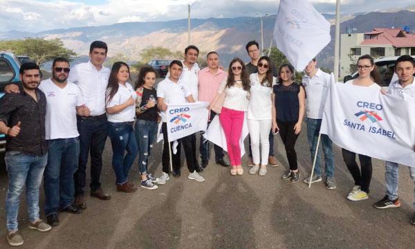 CREO continúa creciendo con su nueva directiva cantonal del Frente de Jóvenes de Santa Isabel en Azuay