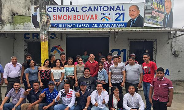 Jóvenes CREO en Guayas posesionó a su directiva en Simón Bolívar