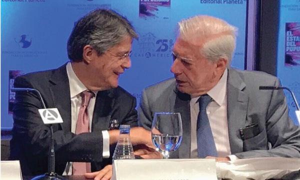Se prepara evento en Ecuador con la presencia de Mario Vargas Llosa y Guillermo Lasso