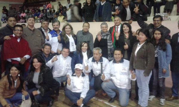 Desde Chambo se presentan a los candidatos de Chimborazo para las elecciones seccionales