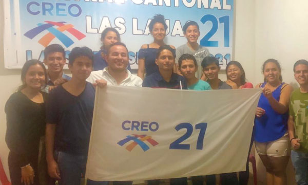 Movimiento CREO reconoce y felicita a su nueva Directiva del Frente de Jóvenes en el cantón Las Lajas, de El Oro