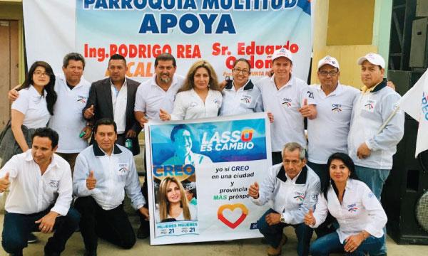 En el cantón Alausí CREO Chimborazo presenta su equipo para renovar las juntas parroquiales