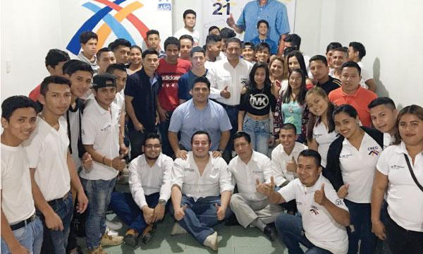El Frente de Jóvenes CREO en el Guabo trabaja para fortalecer la propuesta seccional electoral