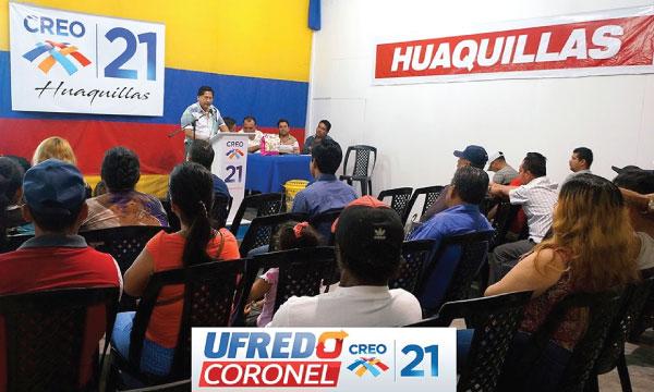 En Huaquillas CREO El Oro consolida el trabajo del frente de jóvenes para su propuesta electoral
