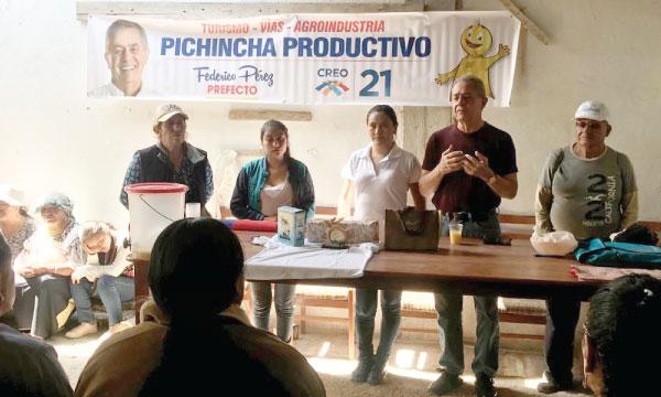 En Pichincha continúan los recorridos territoriales para compartir la propuesta electoral de cambio para el 2019