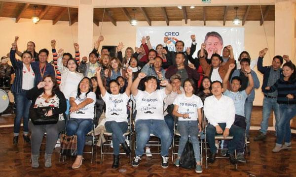 CREO posesiona a su nueva directiva de Jóvenes de la parroquia Sangolquí en Pichincha