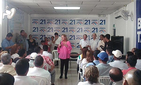 CREO  fortalece el trabajo territorial con su candidata a la Prefectura del Guayas