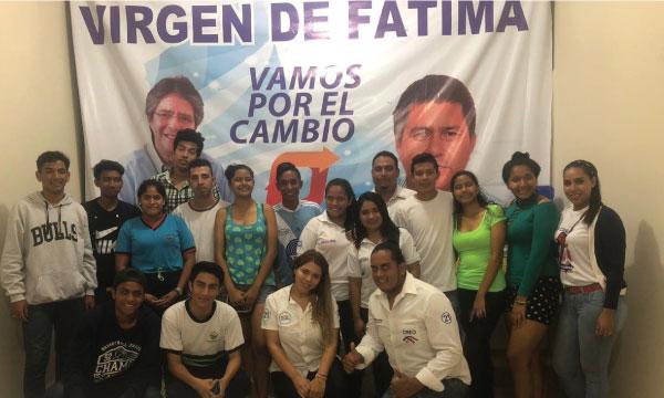 En la Parroquia Virgen de Fátima CREO Yaguachi posesiona a su nueva Directiva Parroquial del Frente de Jóvenes