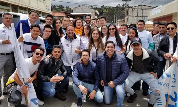 El Frente de Jóvenes de CREO Cañar acelera su trabajo para la victoria electoral 2019