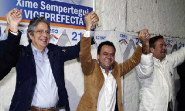 En Azuay Guillermo Lasso continua su gira nacional en apoyo a las próximas elecciones