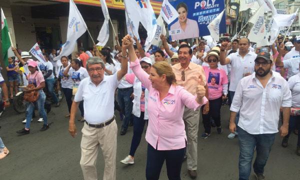 Candidatos de CREO recorren Milagro impulsando el proceso de cambio provincial