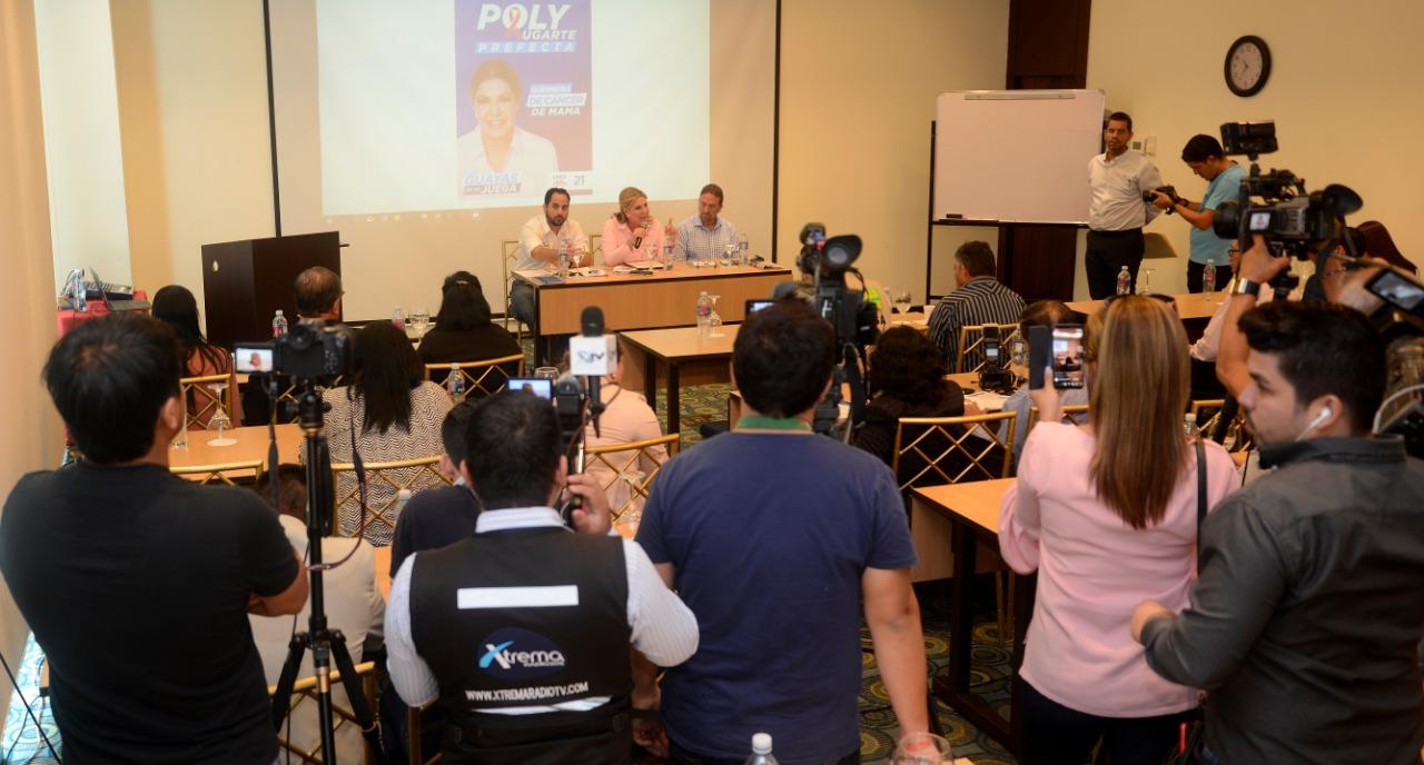 Poly Ugarte presentó sus propuestas para la prefectura del Guayas