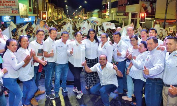 En Arenillas continúa el crecimiento de Edwin Rengel como el próximo alcalde de su cantón