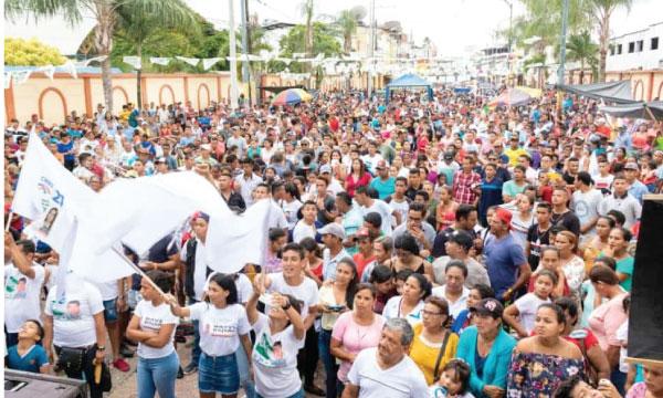 Baba manifiesta su apoyo multitudinario por la Prefectura del Cholo Mendoza