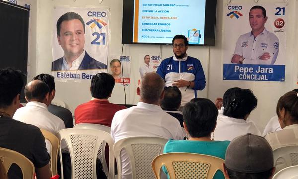 Desde Azuay continúa el recorrido de capacitación electoral a los candidatos de CREO