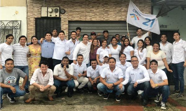 Jóvenes CREO Guayas continúan su activación territorial para fortalecer la propuesta 2019