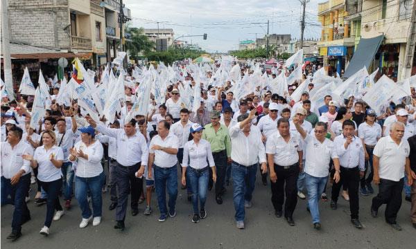 El Cholo Mendoza inunda las calles de Los Ríos con su mensaje de cambio provincial