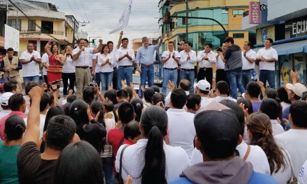Desde Morona Lasso apoya a sus candidatos para el desarrollo productivo de la Amazonía