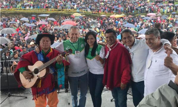 Apoteósico recibimiento del próximo Prefecto Federico Pérez en el Sur de Quito