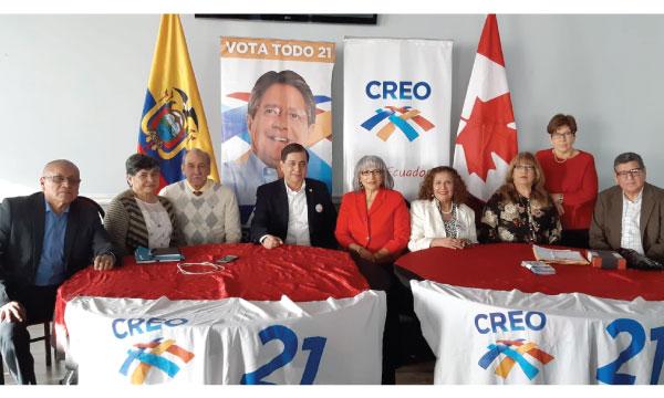 Desde Toronto se posesiona la nueva directiva territorial de CREO Canadá