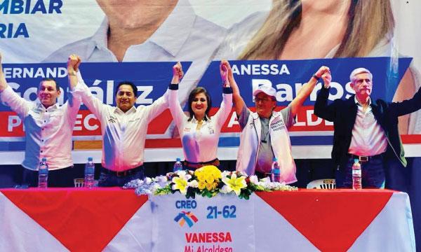 Fernando González recibe el apoyo de las bases de CREO para el cambio en Tungurahua