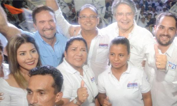 Lasso llega a llega al cantón Simón Bolívar para apoyar al próximo Alcalde Jhonny Firmat