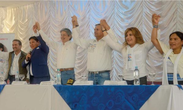 Lasso en conversatorio con los medios en Chimborazo apoya a José Luis Díaz y Paco Fierro