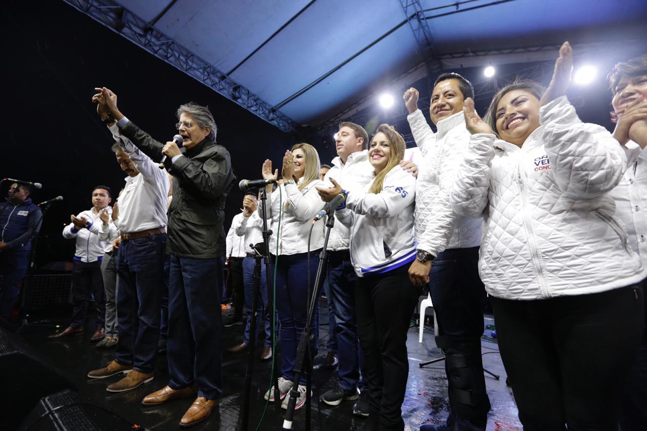 Lasso llega a Rumiñahui en apoyo al próximo Alcalde Wilfrido Carrera
