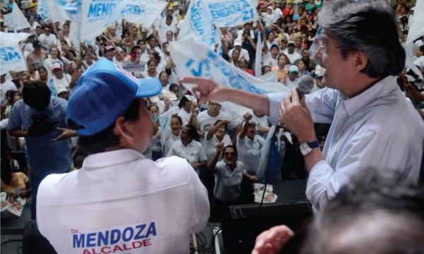 Guillermo Lasso arranca cierre de campaña en Vinces