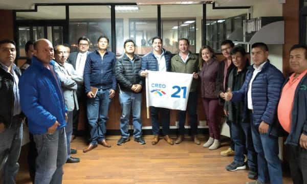 El recorrido nacional de CREO continúa en Azuay trabajando con las autoridades electas