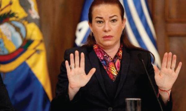 Asamblea califica el Juicio Político contra la excanciller Espinosa impulsado por CREO