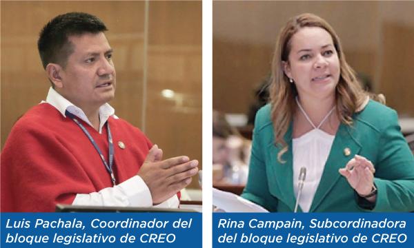 CREO nombra a su coordinador de bloque para el nuevo período legislativo