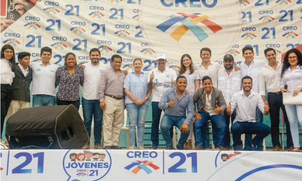 El Frente de Jóvenes CREO de Guayas presenta reconocimiento a sus autoridades electas