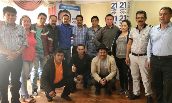 CREO continúa su recorrido nacional desde Tungurahua trabajando con las autoridades electas